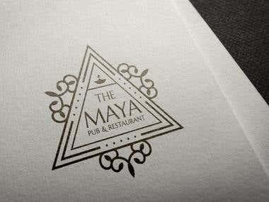 The Maya Pub Logo Designs