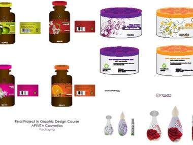 Product design, labels and website