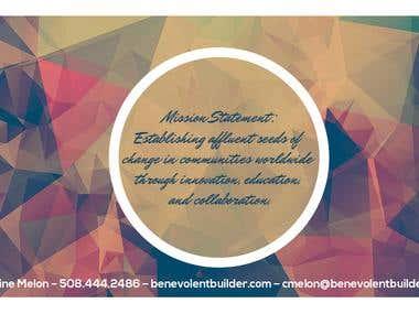 Brand design for Benevolent Builder