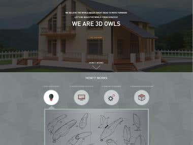 3D Owls (Website Design)