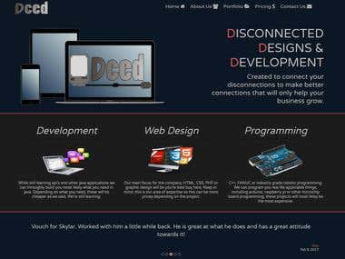 Dced Designs portfolio website