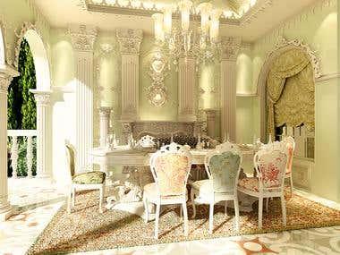 Victorian terrace seating design