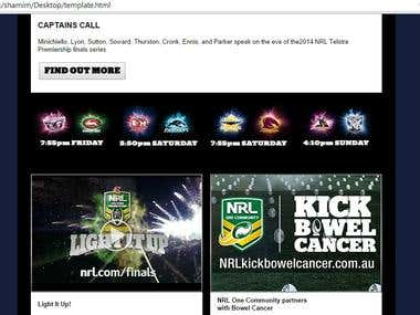 NRL - Psd to Html Email template