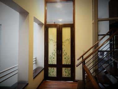 Artwork on door
