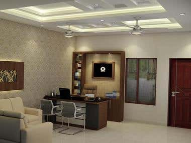 Office designing (AutoCAD)