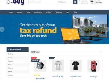 O-buy (e-commerce Website)