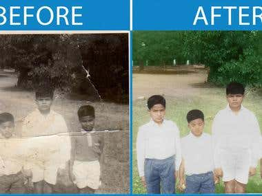 Colorize for old photo