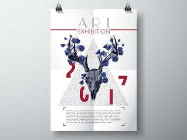 ART exhibition poster.