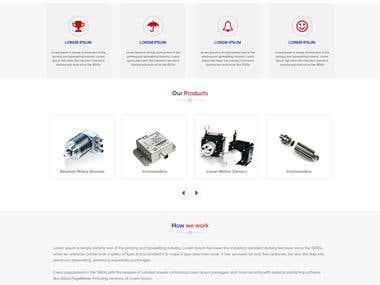 Website mokup design