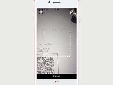 IOS QR Code Scanner & Uploader