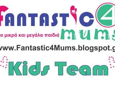 Logo design for the blog Fantastic 4 Mums