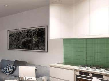 CGI images for a residence in the AUS