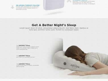 Airospa - Product Landing Page