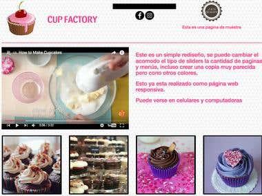 Página cupcake