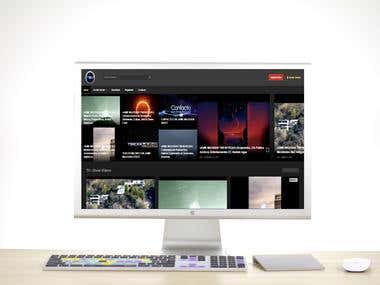 Video Streaming website - Home