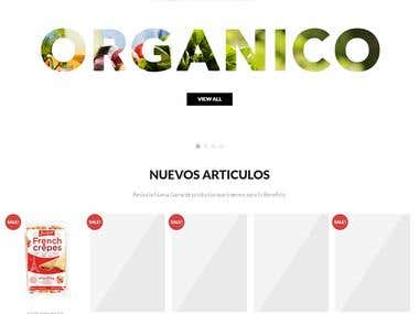 Organic E-comerce store