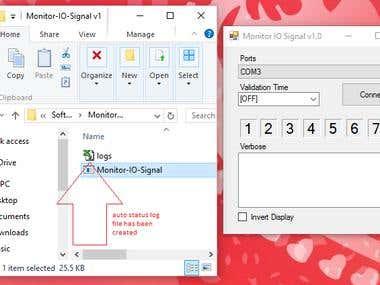 Machine IO Signal Monitor [Arduino UNO]