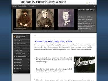 Audley Family History