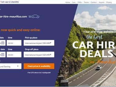 Car hiring website