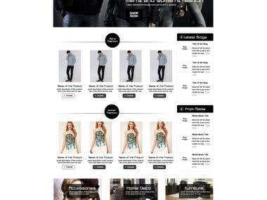 Chinese, English E-Commerce Fashion Store