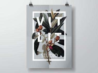 Floral poster.