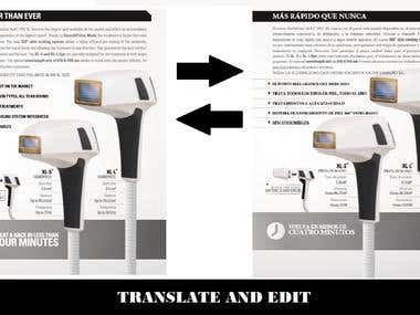TRANSLATION AND EDIT OF TEXT AND PDF DOCUMENTS.