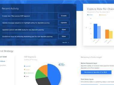 Web Dashboard - Marketing