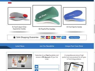 Website Development - DrFoot - Foot Pain Identifier