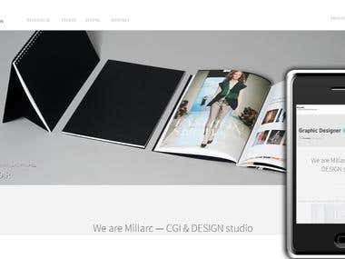 Responsive design and slider gallery