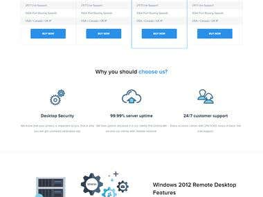 Website developed for Remote Desktop Protocol (RDP) Services