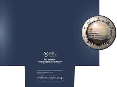 Global Marine Gatefold Mailer
