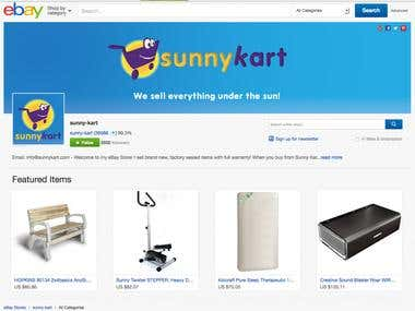 Sunny-Kart eBay store, with 36,000 feedback