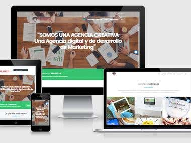 Agency website - Home