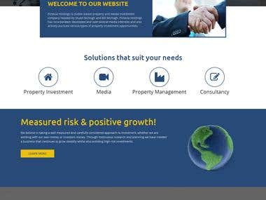 Website Design for an Investment Management company