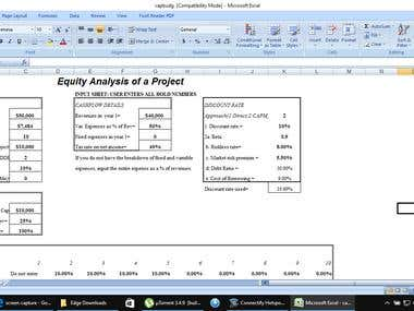 Equity Analysis of a Project