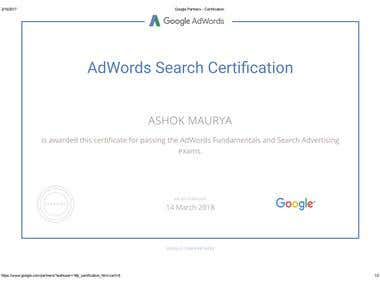 Google Adword Certification