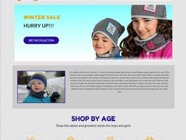 Website for an Online Apparel Store