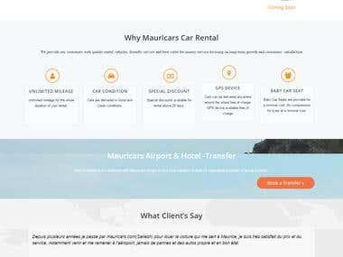 Mauricars - The Car Rental - CodeIgniter Website