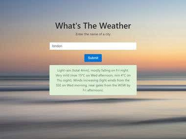 Bootstrap Weather Web App with a weather API.