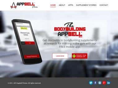 Website for Mobile Fitness App