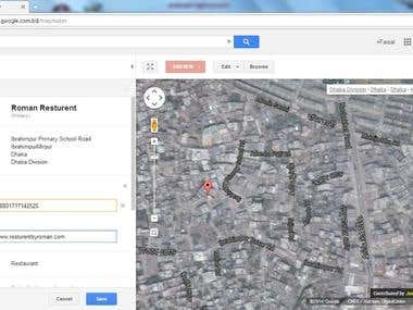 Demo project of Google Maps Marketing