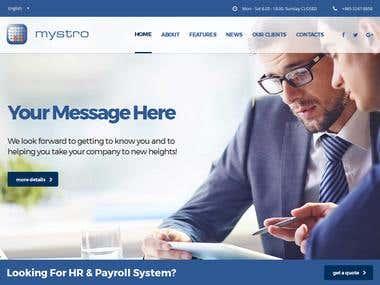 Mystro web site design & development