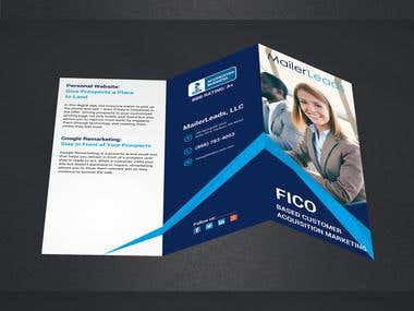 3-panel brochure sample