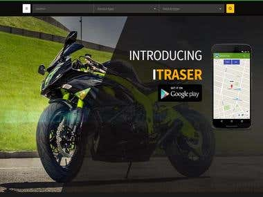 Vehicles repair shop founder web app designing- itraser