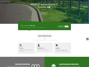 ProCut Maintenance - One Page Website