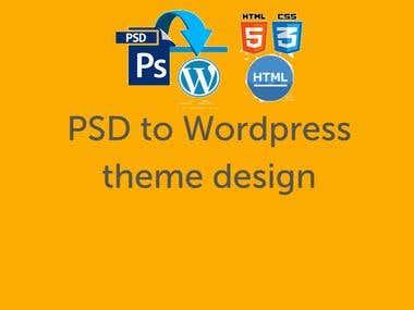 PSD to wordpress theme design