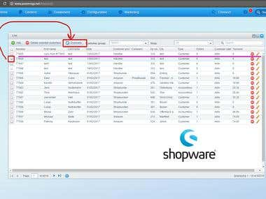 Shopware plugin for user duplication