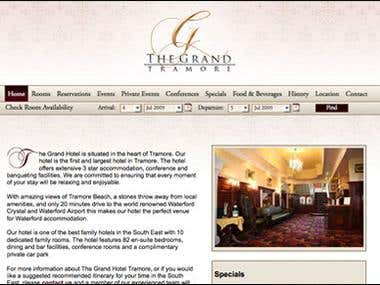 Website Design - Hotel Website including custom CMS