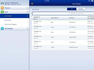 Banking iPad App - UserManager