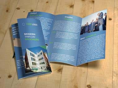 I will design tri-fold brochure design